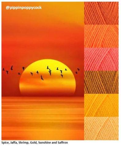 MB orange-sun