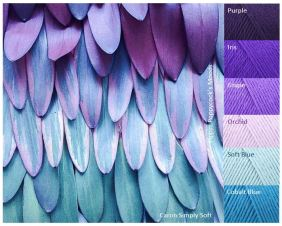 MB Purple Feathers