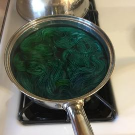 Mixed Green Hand dyed