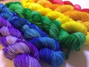 Rainbow Hand Dyed